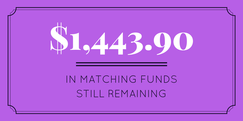 $2082.37 in matching funds still remaining